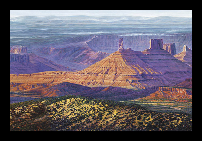 "R. GeoffreyBlackburn""Castle Valley Thunder"" oil painting"